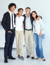 Business colleagues standing together in a row Royalty Free Stock Photography