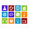 Business collection icon web  button Royalty Free Stock Photo