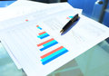 Business color charts and graphs Royalty Free Stock Photo
