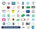 Business color cliparts
