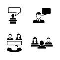 Business communication. Simple Related Vector Icons