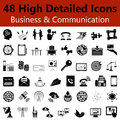 Business and Communication  Smooth Icons Royalty Free Stock Photo