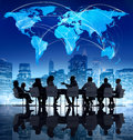 Business communication with world map Royalty Free Stock Photo