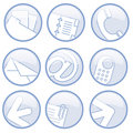 Business communications icons Stock Photography