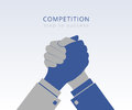 Business competition conceptual illustration of between two mans Royalty Free Stock Photography
