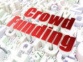 Business concept crowd funding on alphabet background d render Stock Photo