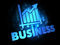 Business Concept on Dark Digital Background. Royalty Free Stock Photos