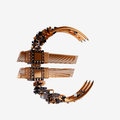 Business concept. Euro Currency Symbol of microchips isolated on white background. Royalty Free Stock Photo