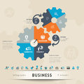 Business concept graphic element illustration and icon with copy space for text layout Royalty Free Stock Image
