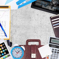 Business concept with office and business work Royalty Free Stock Photo