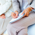 Business concepts - writing in  notebook Stock Photo