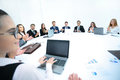 Business conference. Business meeting. Business people in formal Royalty Free Stock Photo