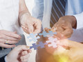Business Connection Corporate Team Jigsaw Puzzle Concept Royalty Free Stock Photo