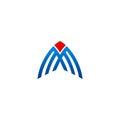 Business construction line vector logo
