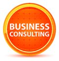 Business Consulting Natural Orange Round Button