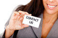 Business contact Stock Photography