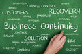 Business Continuity Concept Word Cloud Royalty Free Stock Photo