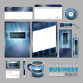 Business corporate identity template with abstract blue backgrou Royalty Free Stock Photo