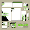 Business corporate identity template with green and black vector sports style Stock Image