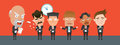 Business corporation Scolding concept flat character