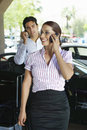 Business Couple On Call Stock Images