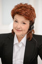 Business customer service woman smiling closeup of Royalty Free Stock Photo
