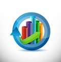 Business cycle graph chart illustration design over white Royalty Free Stock Photo