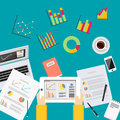 Business data analytics. Business statistics analysis concept
