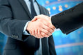 Business deal finalized congratulations handshake the is Royalty Free Stock Photos