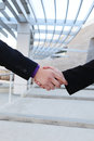 Business deal handshake Stock Photo