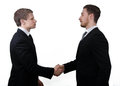 Business deal handshake a is being confirmed with Stock Images