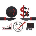 Business deal partner concept Isolated vector Royalty Free Stock Photo