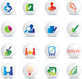Business deals icon set Royalty Free Stock Image