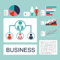 Business design over blue background vector illustration Royalty Free Stock Photo