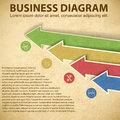 Business diagram template with text fields vector illustration eps contains transparencies Royalty Free Stock Photography