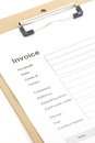Business document invoice closed up Royalty Free Stock Image