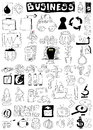 Business doodle design elements Royalty Free Stock Photo