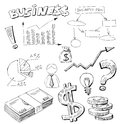 Business doodles Stock Image