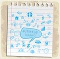 Business doodles set illustration, vector icon