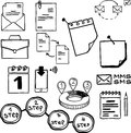 Business and economy finance web and internet doodle hand drawn elements icons this is file of eps format Stock Images