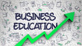 Business Education Drawn on White Brick Wall. Royalty Free Stock Photo