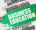 Business Education on White Brick Wall. Royalty Free Stock Photo