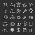 Business element icons. Royalty Free Stock Photo