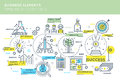 Business Elements Timeline Infographics