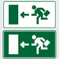 Business emergency exit sign Royalty Free Stock Photos