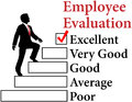 Business employee improve evaluation man climbs up form to improvement Stock Photography