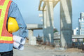 stock image of  Business engineer at construction site background