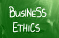 Business ethics concept handwritten with chalk on a blackboard Royalty Free Stock Images