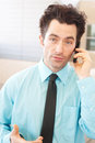 Business executive on cell phone Royalty Free Stock Photos