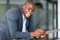 Business executive smart phone Stock Photography